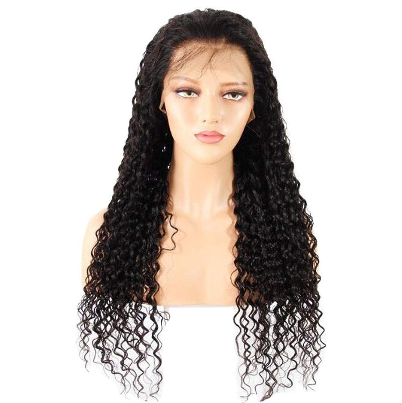 真実に徹底個人レースフロントかつら本物の人間の毛髪の深い波 130% 密度の自然なヘアラインの髪の女性のための赤ちゃんの髪の毛の日常使用前に撥未処理のバージンかつら,12inch