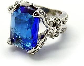 De-Cos Kuroshitsuji / Black Butler Cosplay Accessory Phantomhive Ciel Blue Gem Ring #13