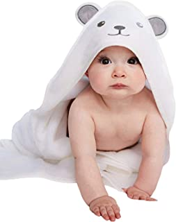 Organic Bamboo Hooded Baby Towel - Softest Hooded Bath Towel with Bear Ears for Babie, Toddler,Infant - Ultra Absorbent and Hypoallergenic, Natural Baby Towel Perfect Baby Shower Gift for Boy and Girl