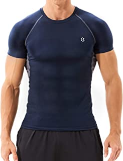 Bewinds Men's Compression Shirts Cool Dry Short Sleeve Workout T-Shirt