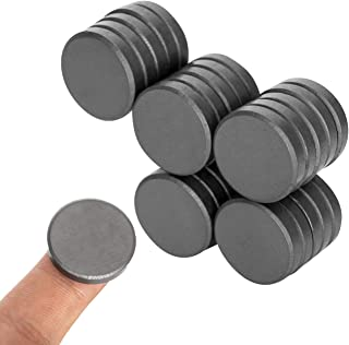 BYMAGS Mini Crafts Magnets Round Black Ceramic Magnets Small DIY by hand Circle Magnets for fridge, Craft Hobbies, Science...