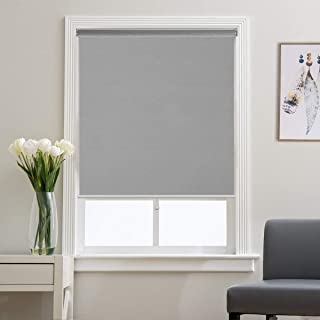 Blackout Shades Roller Shade Window Blinds, Black Out 99% Light & UV, Thermal, Cordless and Easy to Pull Down & Up, Gray, 35