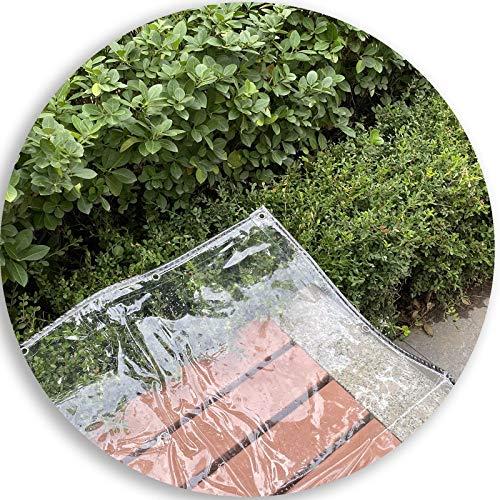 SHIJINHAO Toldo Transparente, A Prueba De Lágrimas, con Ojal, Transparente, Multiusos, Lonas, Plástico PVC Se Puede Utilizar para La Protección contra El Tiempo Al Aire Libre