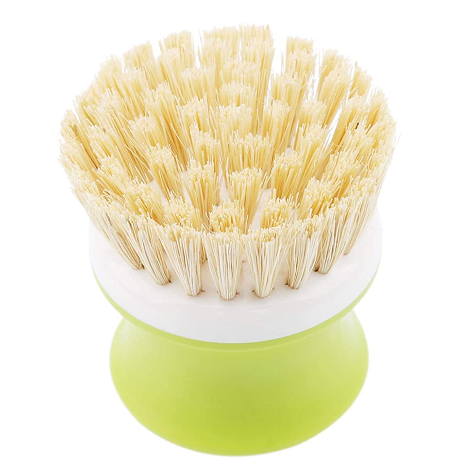 LALANG Home Non-stick Oil Pan Dish Bowl Scrubber Cleaning Brush Kitchen Washing Tool(green)