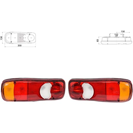 Paar Rücklicht Rückleuchten Heckleuchten E Mark Tuv Lkw Pritsche Lampenträger 24v Auto