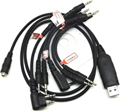 ConPus 6 in 1 USB Programming Cable for ICOM IC-2800 IC-3FGX IC-A110 IC-A23 IC-A24 Ad302