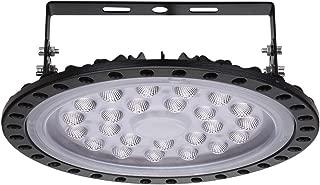 Viugreum 100W UFO LED Lámpara de Alta Bahía, Ultra Delgada Lámpara Industrial 10000LM,IP65, 6500K(Blanco Frío), Comercial Lámpara Alta Bahía,Iluminación para Garaje, Fábrica, Taller