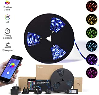 SONOFF LED RGB Dimmable Smart Light Strip with Timer, APP Remote Control WiFi Strip Lights, 16.4ft 5050 Waterproof IP65, W...