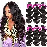Beauty Princess Brazilian Virgin Hair Body Wave 3 Bundles 16 18 20inchs 9A Unprocessed Human Hair Weave Bundles Soft...
