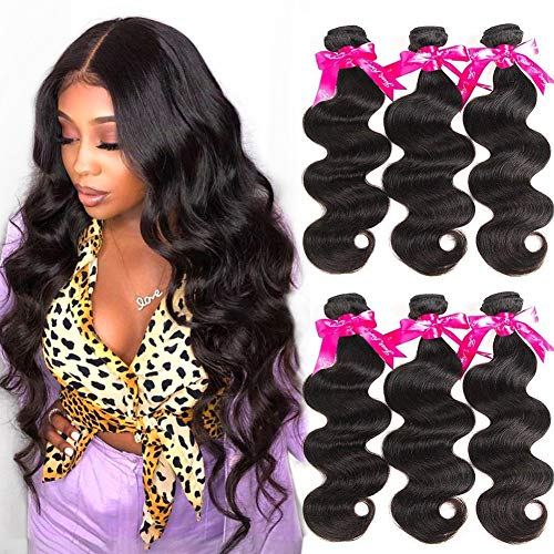 Beauty Princess Brazilian Virgin Hair Body Wave 3 Bundles 16 18 20inchs 9A Unprocessed Human Hair Weave Bundles Soft Remy Hair Weave