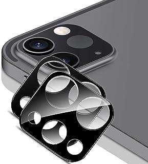 ESR カメラフィルム iPad Pro 11とiPad Pro 12.9 (2021/2020) 9H強化ガラス 保護傷に強い 3D全面保護カメラレンズフィルム- ブラック 2枚入り