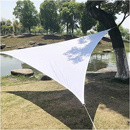 L&WB Sarna Solar Sunscreen Jardín Balcón Y Terraza PES Polyester Shadow Exhibición Triángulo 3 Colores Y 6 Tamaños para Jardín Terraza Camping,Blanco,5x5x7.1m