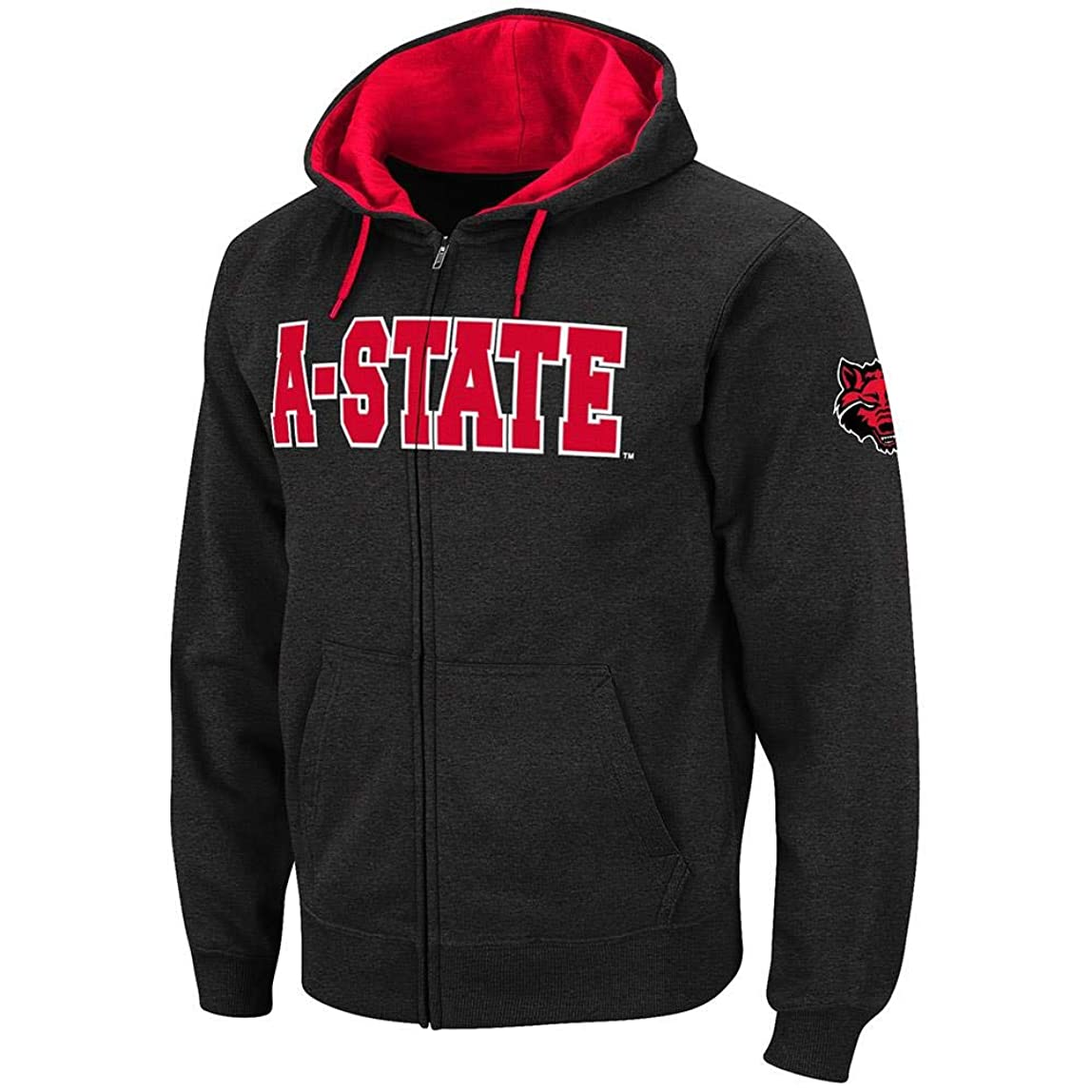 Mens Arkansas State Red Wolves Full Zip Hoodie bitezgt214527