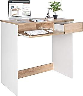 Coavas Escritorio para computadora Escritorio de Madera con cajones de alacena y Bandeja para Teclado Mesa de PC para Adu...