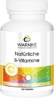 Varning: hälsoprodukter naturliga B-vitaminer 100 tabletter B-komplex