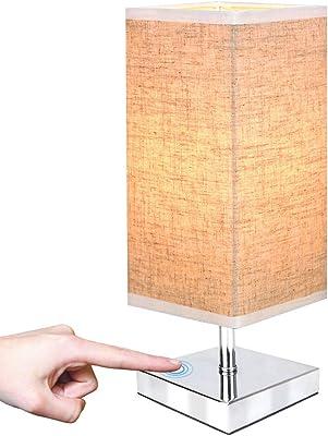 Wood Table Lamp Retro Minimalist Solid Wood Fabric Shade Relax