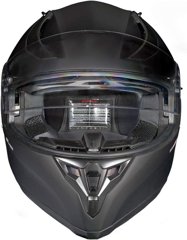 Motorradhelm Integralhelm Rueger Rt 826 Motorrad Roller Quad Helm Farbe Matt Schwarz Größe M 57 58 Auto