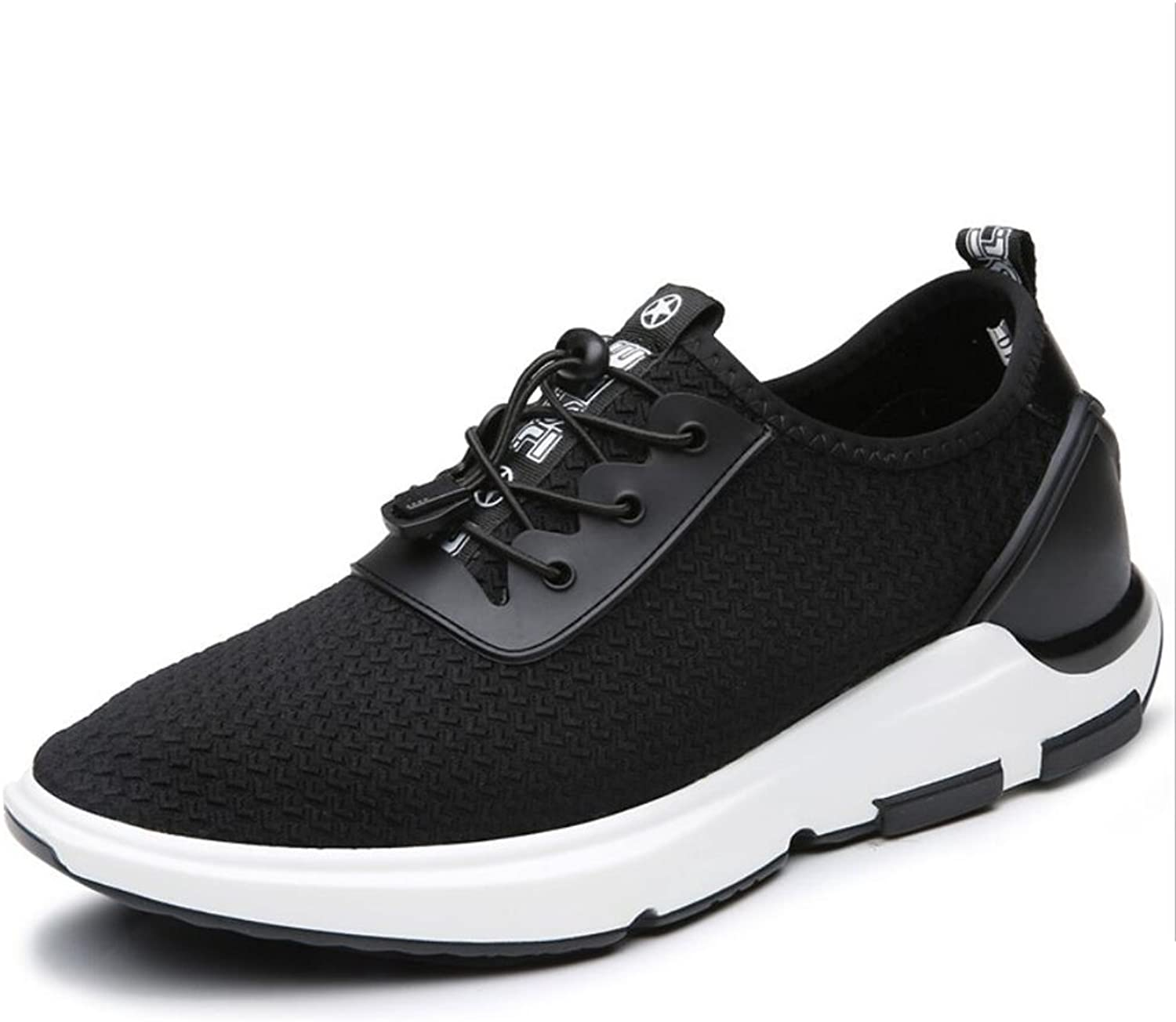 XUE Men's shoes Mesh Spring Fall High-Top Lace-up Sneakers Outdoor Hiking shoes Lightweight Breathable Comfort Light Soles Athletic shoes Light Soles Running shoes Fitness shoes Personality