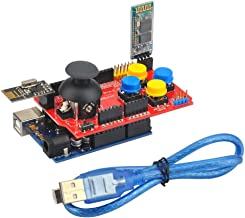 Gowoops Game Joystick Shield V1 Expansion Board + OSOYOO Basic Board for Arduino + NRF24L01 2.4GHz Wireless RF Antenna Transceiver Module + Bluetooth RF Transceiver Module RS232