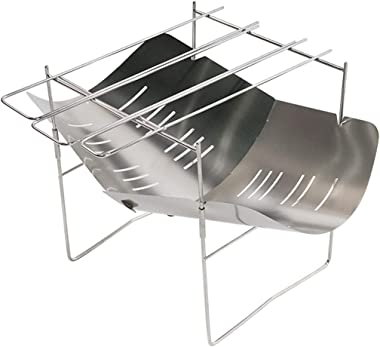 Portable Folding Charcoal BBQ Grill Stainless Steel Camp Picnic Cooker for Lawn Picnic Backyard Balcony Outdoor Cooking