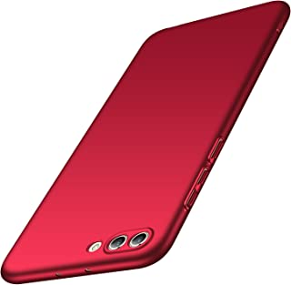 Anccer Huawei Honor View 10 Case, Huawei Honor V10 Case [Ultra-Thin] [Anti-Stain] [Anti-Drop] Premium Material Slim Full Protection Cover (Smooth Red)
