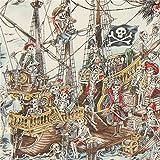 Bunter Stoff mit Skeletten als Piraten von Alexander Henry