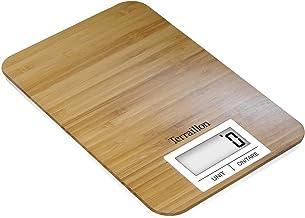 Terraillon 14749, BAMBOO, Balance de Cuisine Naturelle en Bambou, Fonction Tare et Conversion Liquide, Portée 3 kg, Brun