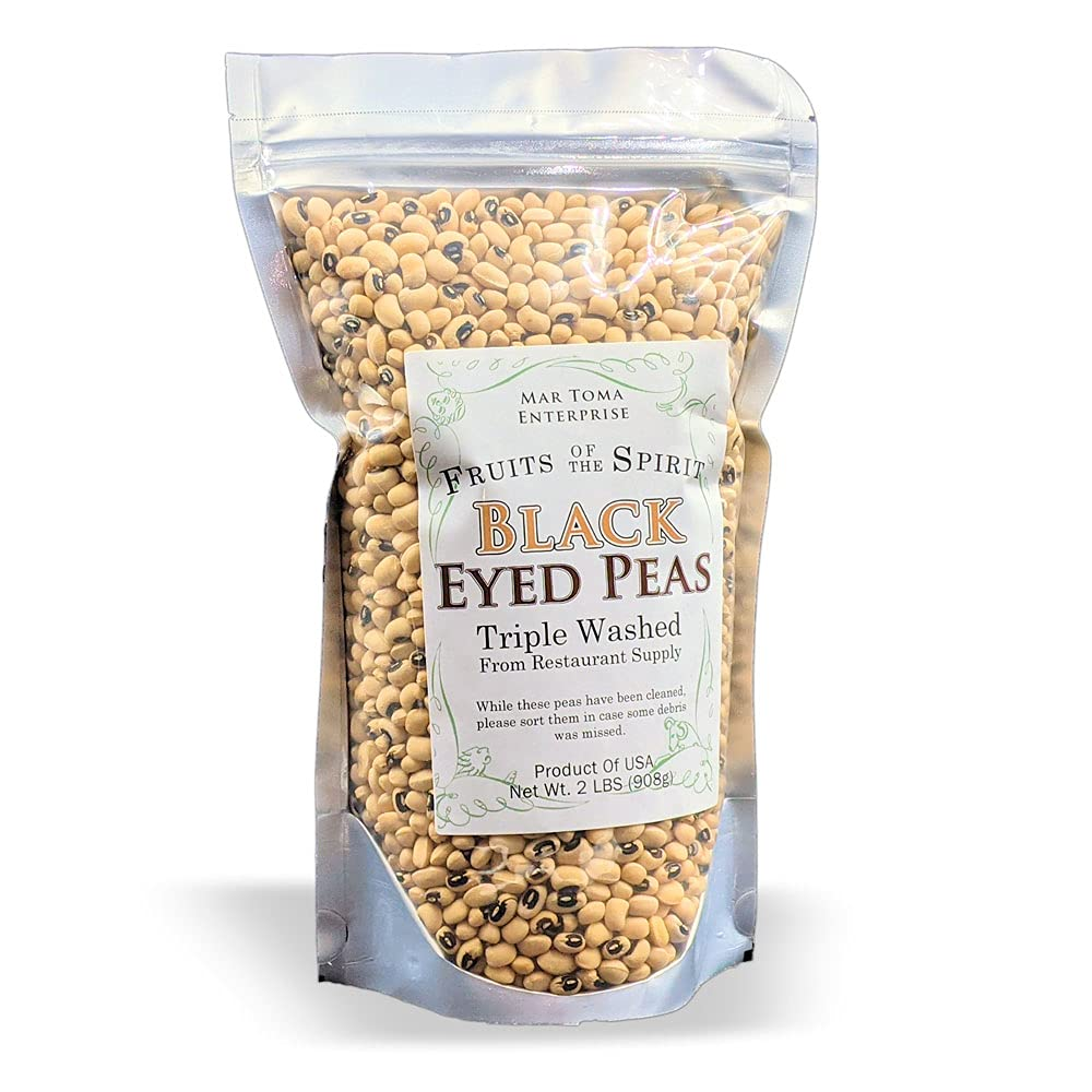 FOTS - Dry Black Eye Peas 2 All New mail order Cleaned 3x Pounds Natural 55% OFF V