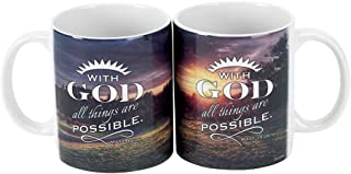 God All Things Are Possible Matthew 19:26 Inspirational 11 Oz. Ceramic Coffee Cup Mug