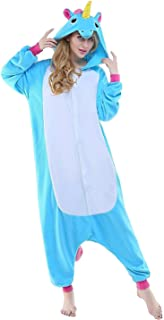 6059902194394 Tooplab Einhorn Pyjamas Kostüm Jumpsuit Tier Schlafanzug Erwachsene