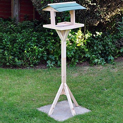 mit Schnabel Kingfisher Wildvogel-Tisch, aus Holz, traditionelle freistehende Garten-Fressnapf--