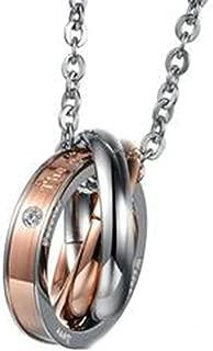 Epinki Jewelry Fashion Necklace Stainless Steel 50 cm Chain Necklaces, Men Women Round Shape