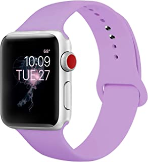 BMBEAR Sport Bands Compatible with Apple Watch 38mm 40mm 42mm 44mm Silicone iWatch Band for Apple Watch Series 4 3 2 1