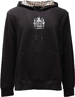 Aquascutum 2748AE Felpa Cappuccio Uomo Black Cotton Sweatshirt Man