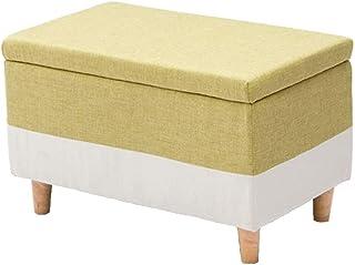 ZGMCGD مقعد تخزين منجد عملي لغرفة المعيشة غرفة نوم كتان قماش طاولة مطبخ حديقة حمام أطفال والكبار (40 سم × 75 سم × 42 سم)