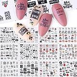 WATERMELON 12pcs Cartas de uñas Pegatinas Adhesivos Agua Sexy Girl Deslizante Transferencia de uñas de manicura del Arte del Tatuaje Abrigos de la Hoja Set