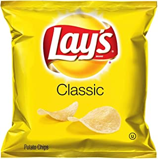 Lay's Classic Potato Chips, 1 Ounce (Pack of 104)