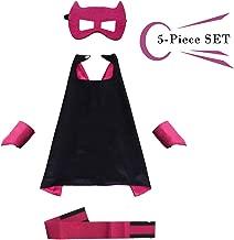 Superhero Dress Capes Set for Kids - Child DIY Superhero Themed Birthday Halloween Party Dress up 5-Pack Set