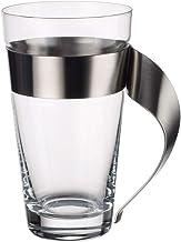 Villeroy & Boch Newwave Latte Macchiato-Glas, 15 cm, 500 ml, Kristalglas met Roestvrij Stalen Handvat, Vaatwasserbestendi...