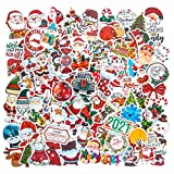 Christmas Stickers for Laptop, 100PCS Christmas Theme Waterproof Vinyl Stickers for Skateboard Computer Water Bottle Stickers for Holiday Xmas New Year Eve Stocking Stuffers for Teen Girls