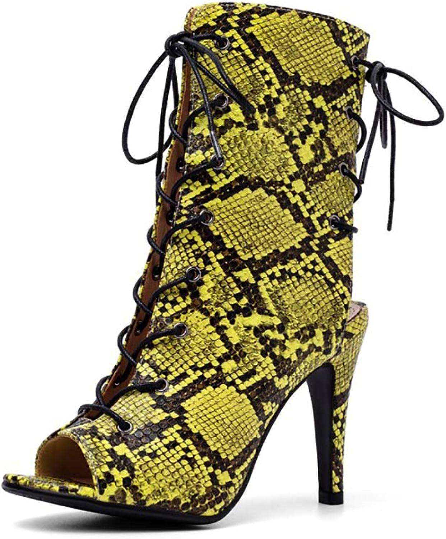 Women's Open Toe Sandals, Cross Straps Roman Boots, Unique Pattern High Heels, Rubber shoes, Front Strap