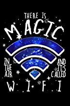 There Is Magic In The Air And It's Called W.I.F.I: Blank Paper Sketch Book - Artist Sketch Pad Journal for Sketching, Doodling, Drawing, Painting or Writing