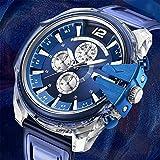 Reloj De Estilo De La Moda De La Moda De La Moda, Reloj De Cuarzo De La Cinta Impermeable para Los Hombres,A