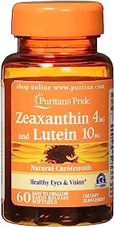 Puritans Pride Zeaxanthin 4mg 含叶黄素,10mg 软胶囊,60粒