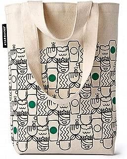 Starbucks Travel Tote Bag Siren Mermaid Coffee Cups Green 2018