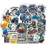 ホンチー フィシングステッカー 50枚 お釣りステッカー 魚シール 防水シール スーツケース バイク ヘルメットなど適用