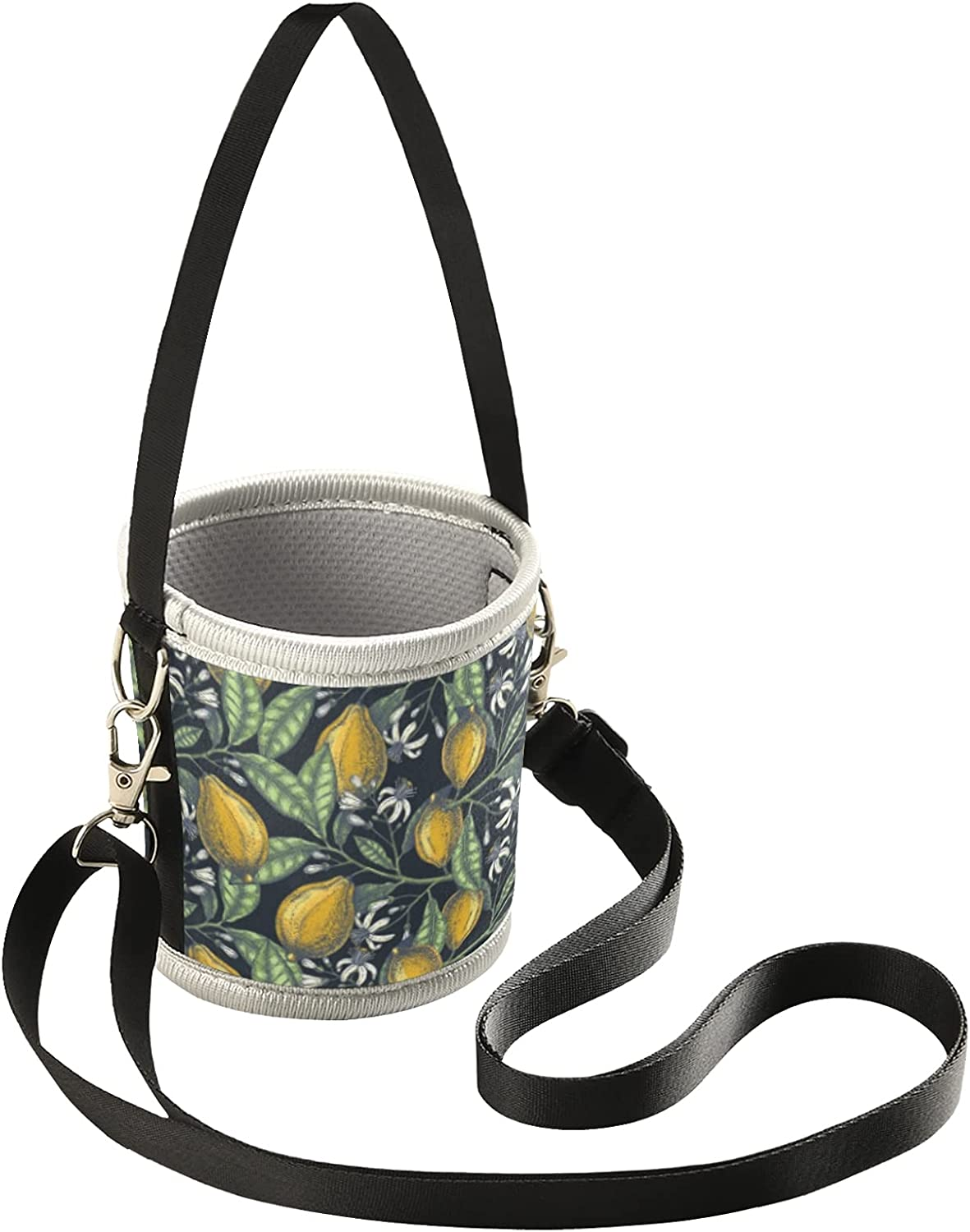 Iced Coffee Sleeve for Hot Cold Coffee Cup Citrus Lemons Reusabl