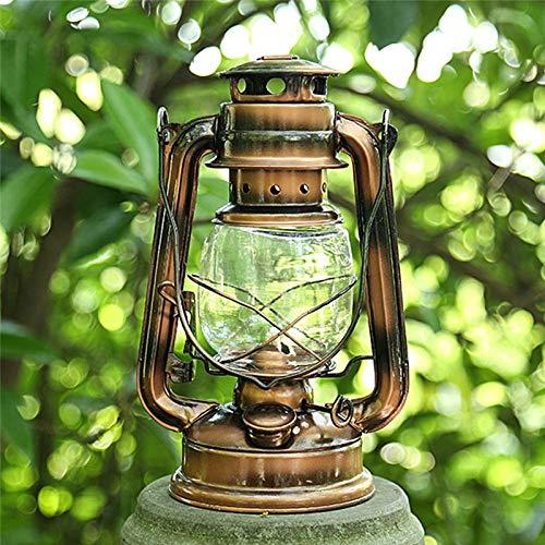 Lampe rétro Kérosène éclairage Portable en métal Camping en Plein air Camping lumières Tente Lampe de ménage Lampe d'urgence