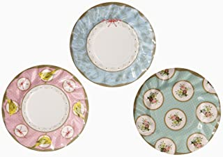 Talking Tables Frills & Frosting使い捨てプレート、12カウント、for a Tea Party