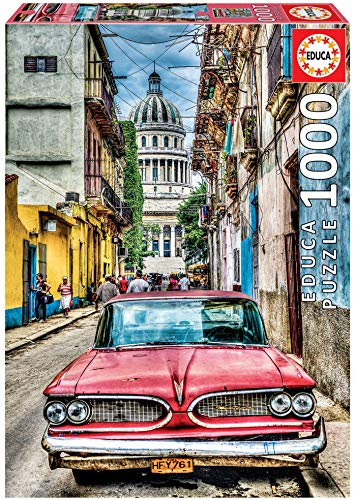 Educa - Coche en la Habana Puzzle, 1000 Piezas, Multicolor (